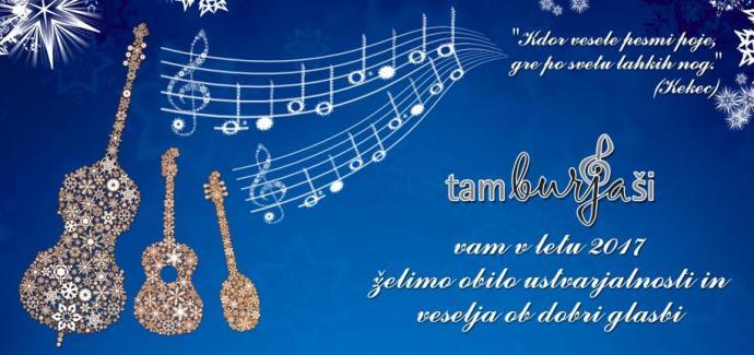 tamburjaši novoletna čestitka 2017 tamburice