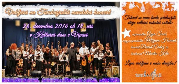 tradicionalni novoletni koncert s tamburaško glasbo