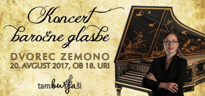 tamburjasi koncert barocne glasbe na dvorcu zemono